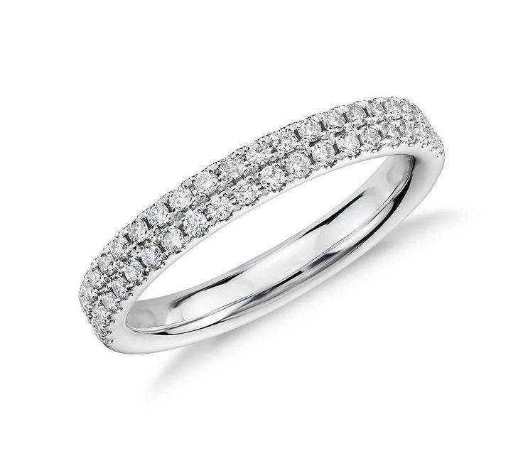 Best Best Ladies wedding rings ideas on Pinterest Stackable wedding bands Stackable bands and Diamond wedding bands