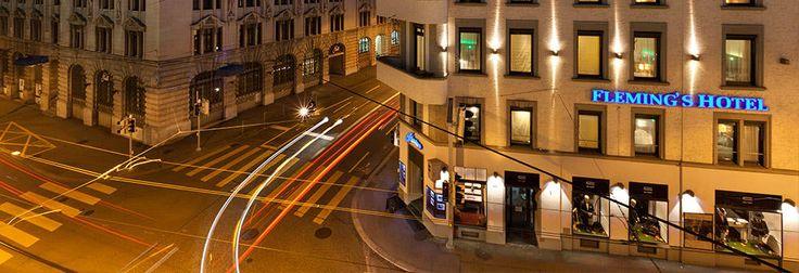 Fleming's Hotel Zurich, http://www.flemingshotel-zurich.upps.ch/, Das Vier-Sterne Hotel Fleming's Hotel Zürich liegt nahe des idyllischen Schanzengrabens im  Stadtzentrum. Zahlreiche Geschäfte und Restaurants sind nur wenige Schritte entfernt. Der Alte Botanische Garten liegt direkt gegenüber. Das Fleming's Hotel Zürich ist weiterhin nur wenige Gehminuten von der Bahnhofstrasse, dem Kongresshaus, der Tonhalle und dem Zürichsee entfernt.