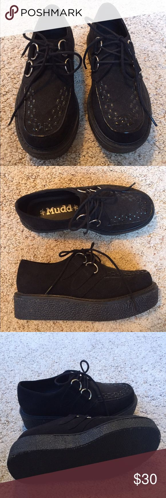 Black creepers Barely worn Mudd creepers size 5 1/2 will fit small 6 Mudd Shoes Sneakers