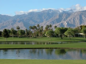 Golf course, Palm Springs, CA.  Many nudists don't realize that we at Terra Cotta Inn belong to a golf discounter and can get special rates and tee times for our guests. Come nude sunbathe with us and play some golf too.