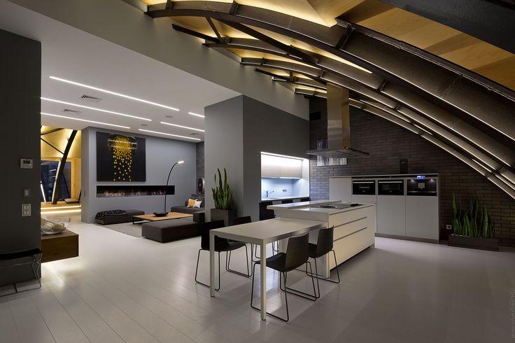 Architectural and interior photographer © Andrey Avdeenko. Minimalist interior design. Architects: ArchObraz studio. Award: Interim 2017, 1st prize.