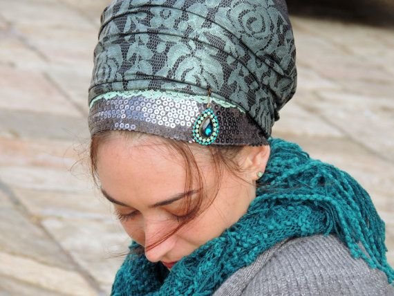 Unique Shiny Tichel For Special Occasions,Hair Snood, Head Scarf,Head Covering,jewish headcovering,Scarf,Bandana,apron