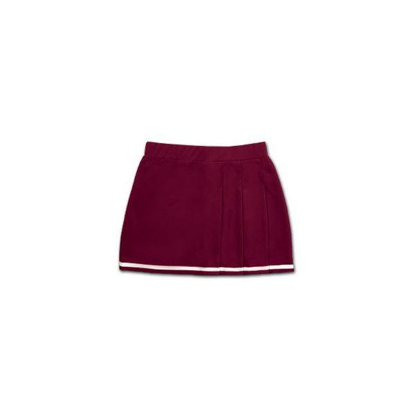 Double Knit 3 Pleat Cheerleading Uniform Skirt ❤ liked on Polyvore featuring skirts, pleated skirt, sports skirts, sport skirts, purple pleated skirt and purple skirt