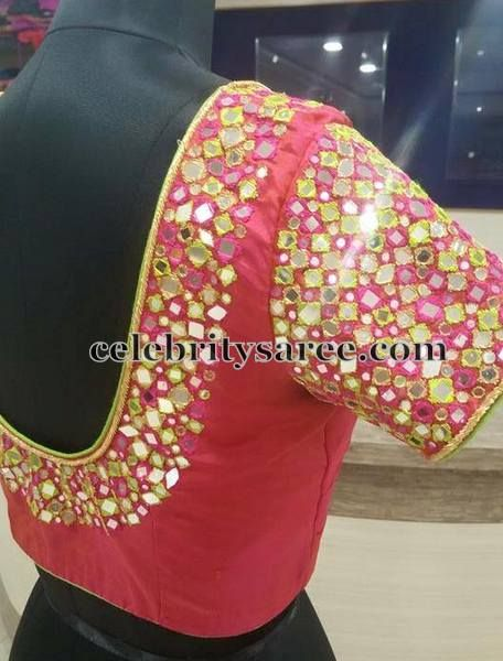Mirror Blouse in Bright Pink