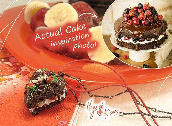 OFFER Set Chocolate Fruit Cake Necklace FREE by HugsKissesMINI