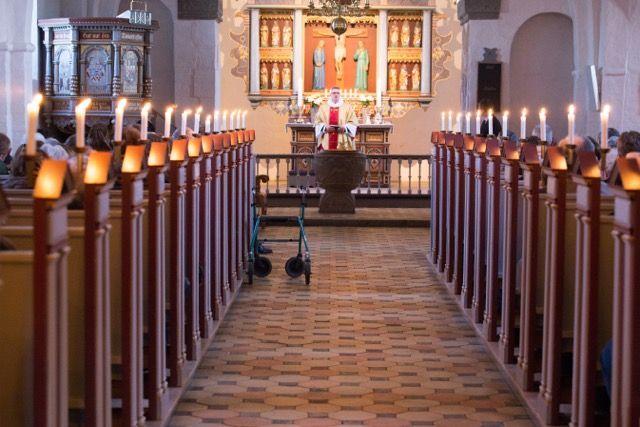 Skærtorsdag i Øster Snede Kirke, Hedensted Provsti