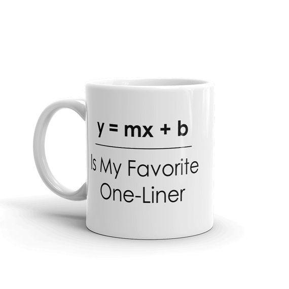 Funny math pun coffee mug on Etsy.