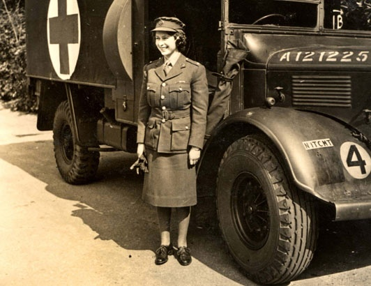Princess elizabeth with her ambulance vintage style pinterest