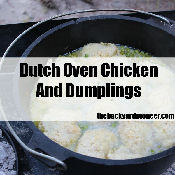Dutch oven chicken and dumplings grill camping recipes for Dutch oven chicken recipes for camping