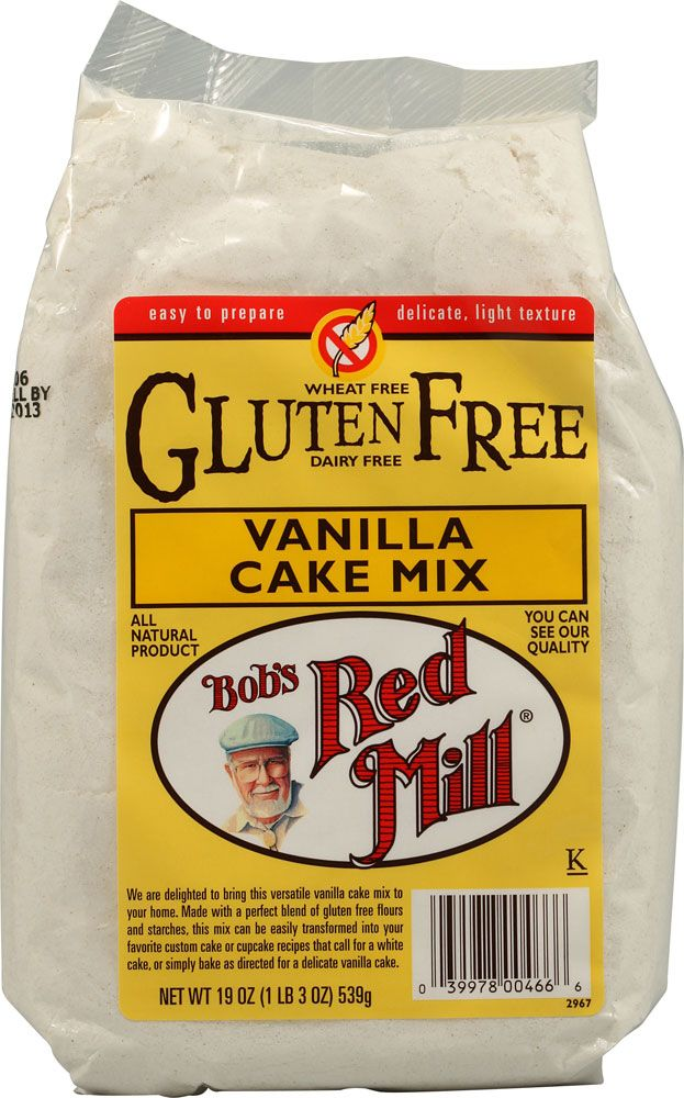 Bob's Red Mill Gluten Free Cake Mix Vanilla -- 19 oz