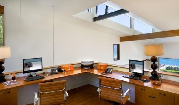 Wrap Around Desk In Loft Home Likes Pinterest