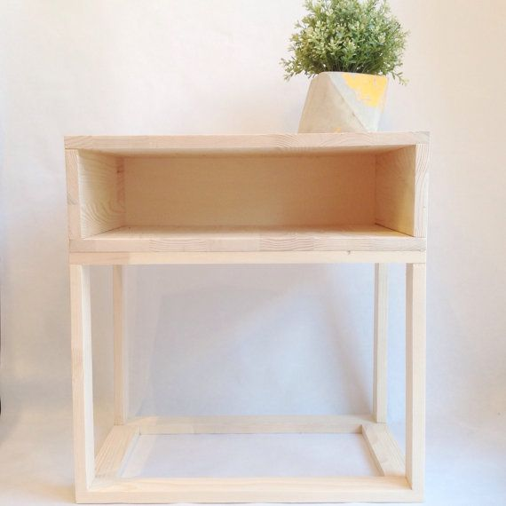 Danish Furniture, Wooden Bedside Table, Scandinavian Table, Modern Nightstand, End Table, Wooden Side Table, Pine Table, Coffee Table