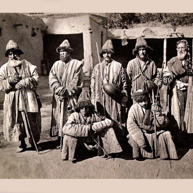 Dervishes, perhaps Qalandryya Sufis.