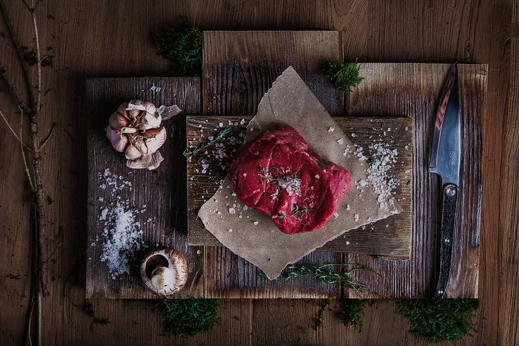 Menu photoshoot of steak house Meat. It is the only restaurant in Vilnius that has meat ageing cabinet, producing the highest quality dry-aged beef. This place offers you a unique opportunity to try local Lithuanian meat along with sides and sauces of y…