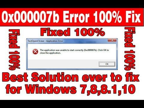 How to Fix 0xc000007b Error (100%) Solution For… | How to Fix