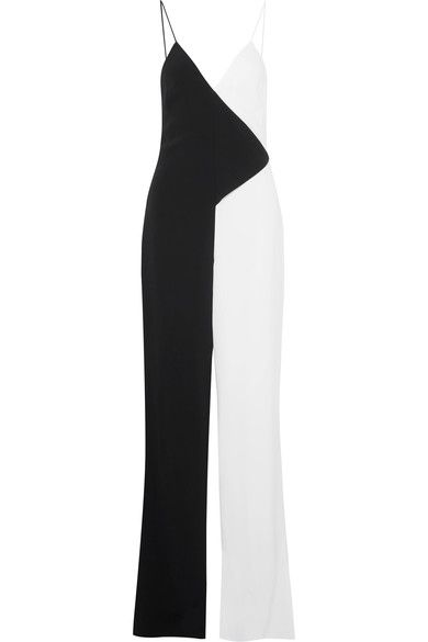 Cushnie et Ochs - Two-tone Crepe Jumpsuit - Black - US12