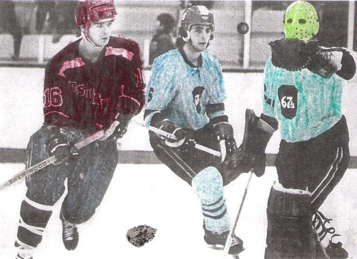 Adding a splash of colour to a hockey game!