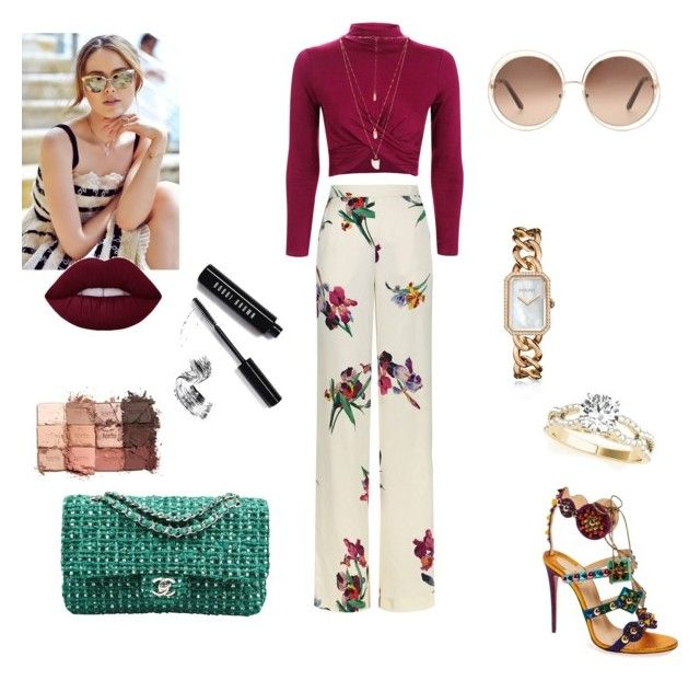 """""""Untitled #327"""" by gloriatovizi on Polyvore featuring Etro, Topshop, Christian Louboutin, Chanel, Natalie B, Chloé, Bobbi Brown Cosmetics and tarte"""