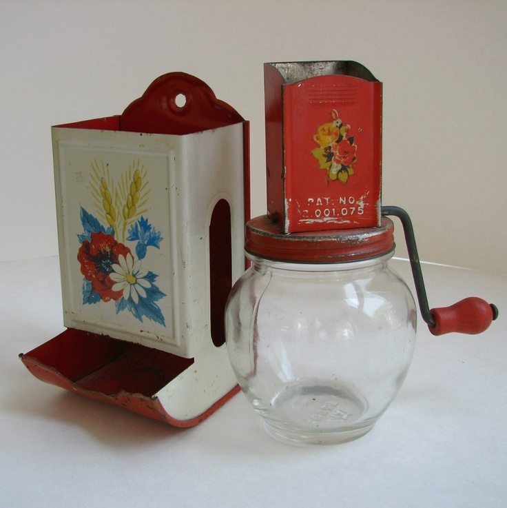 1930s Kitchen Duo Vintage Nut And Spice Grinder