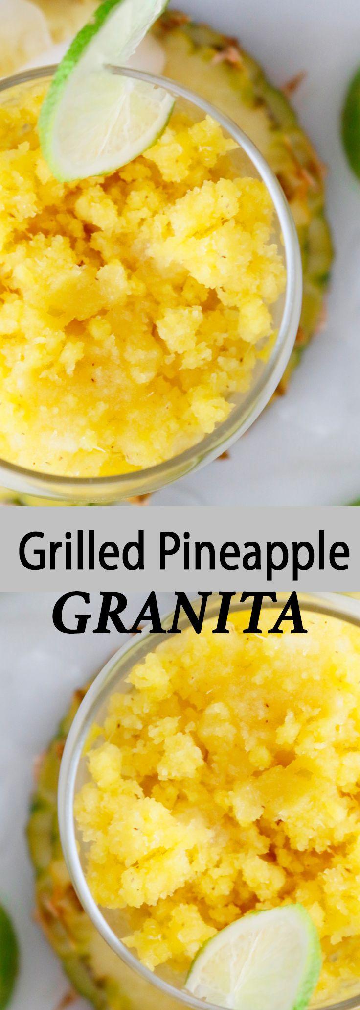 Summer desserts | popsicles | granita | pineapple granita | lime granita | easy summer desserts | grilled desserts | frozen treats | fruity desserts | pineapple