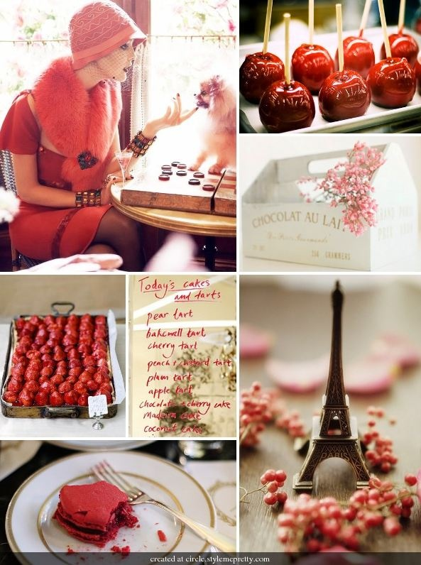 Red + Pink Macarons? Girly and sweet but not romantic..