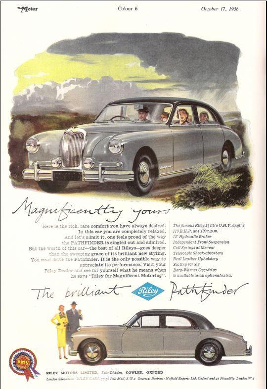 1956 Riley Pathfinder Car Advert