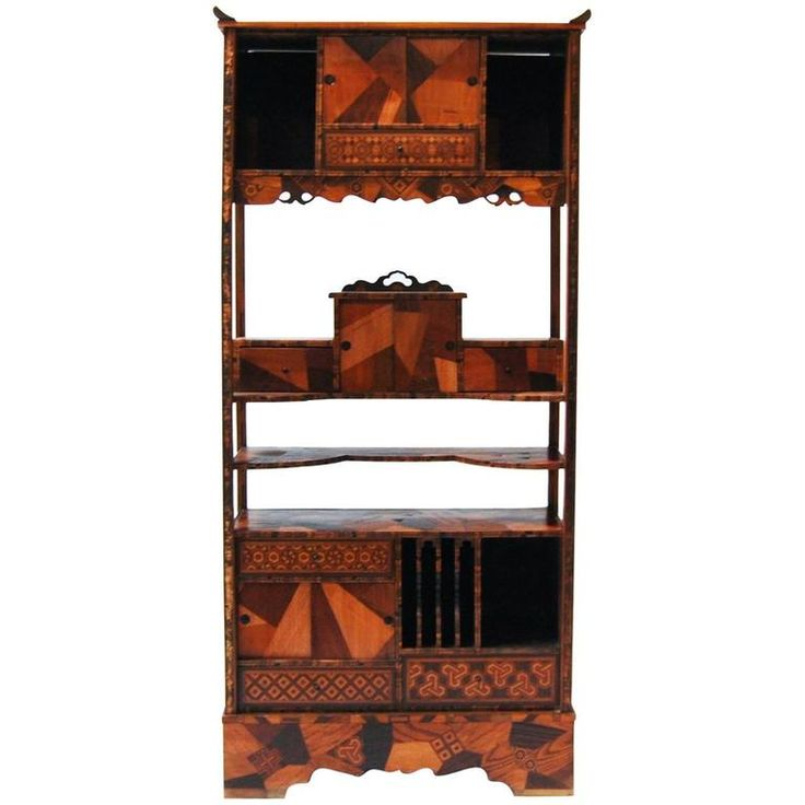 Edo Period Japanese Cabinet with Precious Wood Inlays | From a unique collection of antique and modern furniture at https://www.1stdibs.com/furniture/asian-art-furniture/furniture/