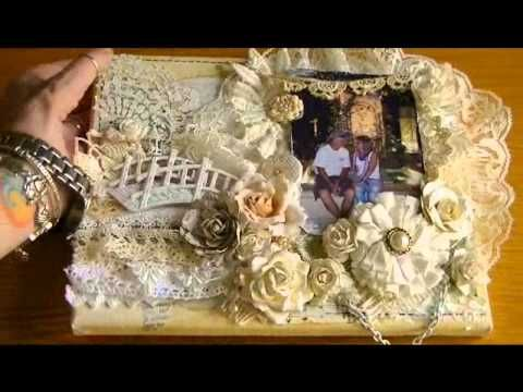 Shabby Chic Altered Canvas  2-21-13