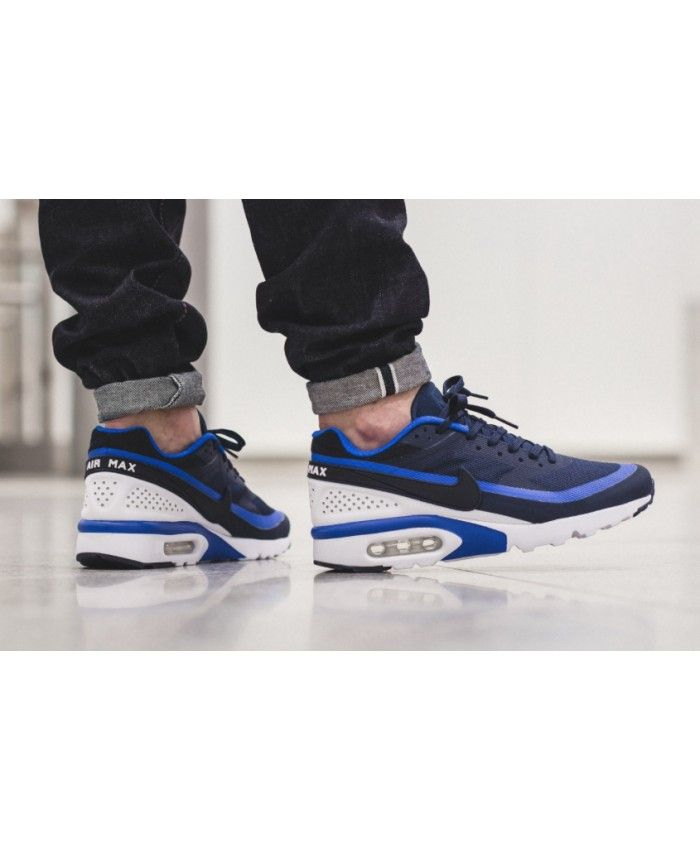 843953a7ef Buy Nike Mens Air Max BW Trainers In Blue Black White Sale2528 ...