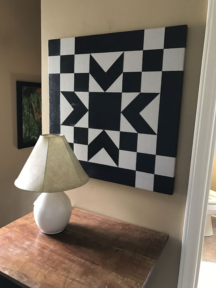 2 color barn quilt