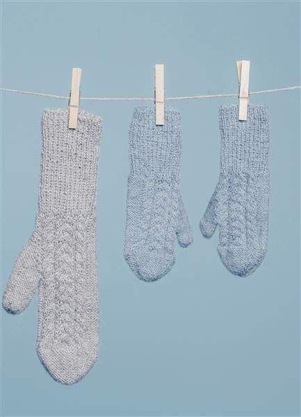Tema 42: Modell 15 Votter med fletter #strikk #knit #alpakka