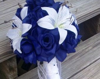 blue hydrangea and tiger lily bouquet - Google Search