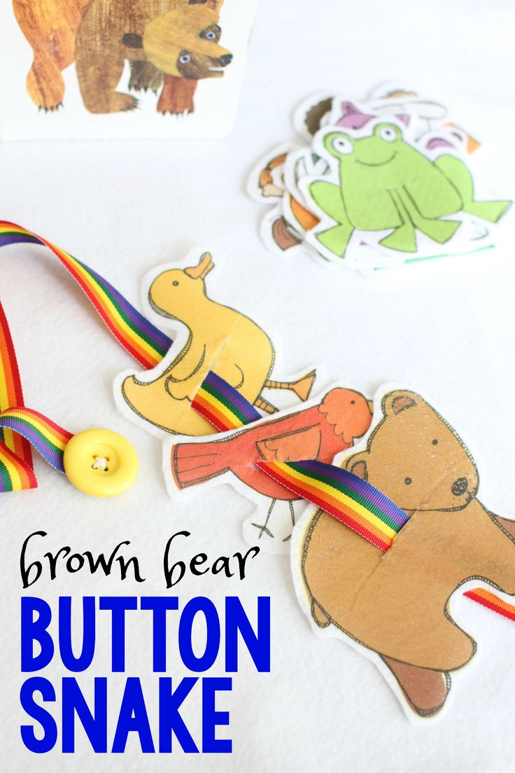 Brown Bear Button Snake - Story Retelling Activity