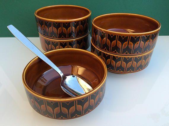 x5 Vintage Hornsea Pottery Heirloom cereal salad soup bowls