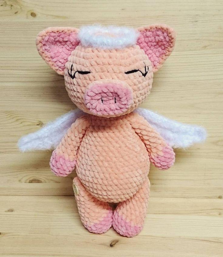 ??  Ein sehr süßes Schweinchen pig crochet plush toys Amigurumi Kuschelt…