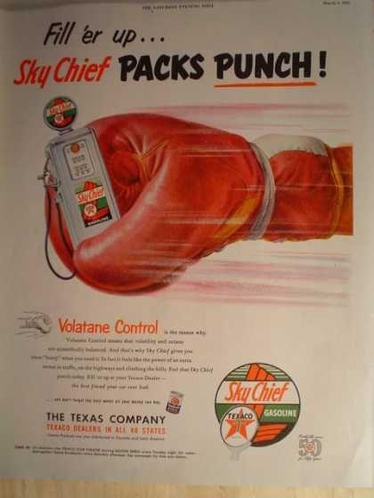 Texaco Sky Chief Gasoline Packs Punch & Sealtest Ice Cream (1952)