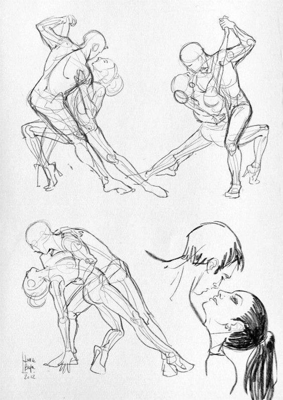 anatomi-human-model-karakalem-çizimleriz