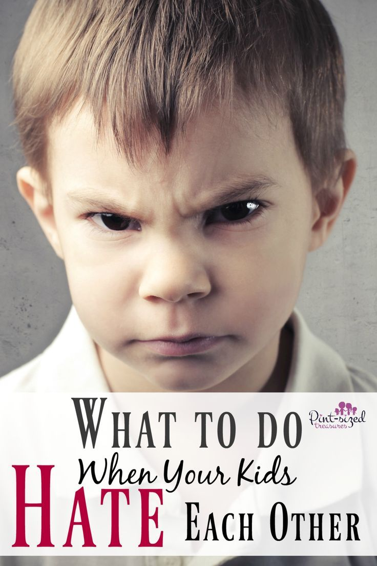 Find out what to do when your kids hate each other