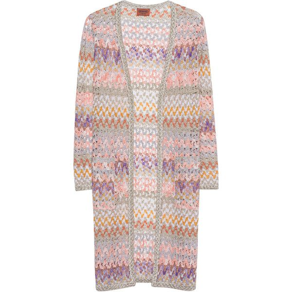 MISSONI Long Multi Glam // Glamorous knit cardigan ($860) ❤ liked on Polyvore featuring tops, cardigans, missoni cardigan, long knit tops, long tops, long cardi and long cardigan