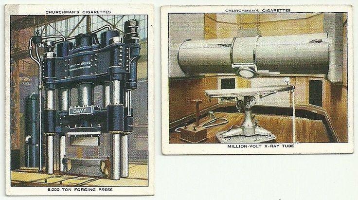 2 Churchman Cigarettes 1938 Modern Wonders Cards Forging Press x Ray Tube | eBay