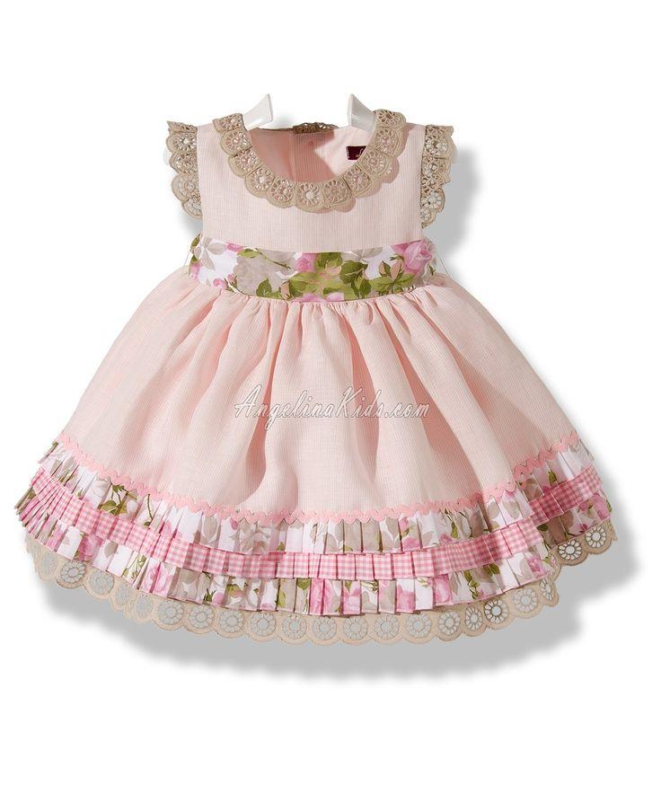 Vestido de vuelo en lino rosa
