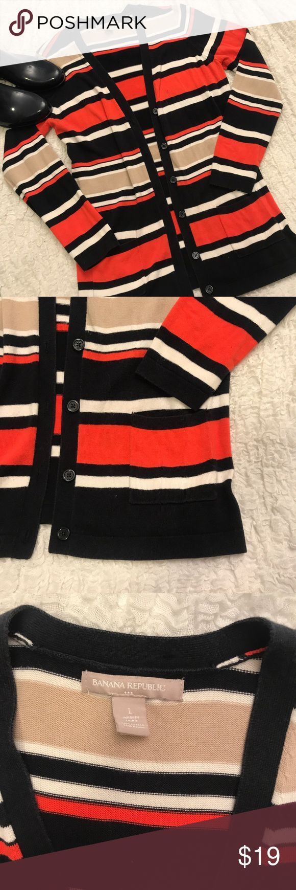 (L) Preppy Banana Republic Cardigan Preppy Nautical cardigan from Banana Republic - size large Banana Republic Sweaters Cardigans