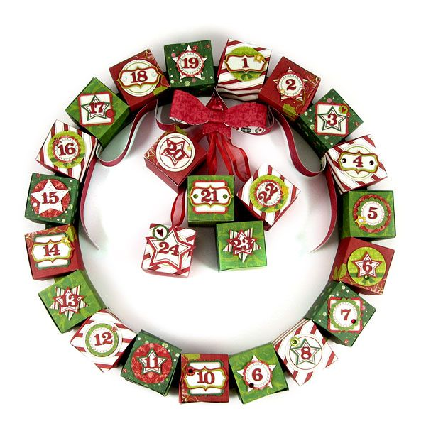 122 best images about holiday ideas on pinterest gift for Handmade christmas countdown calendar