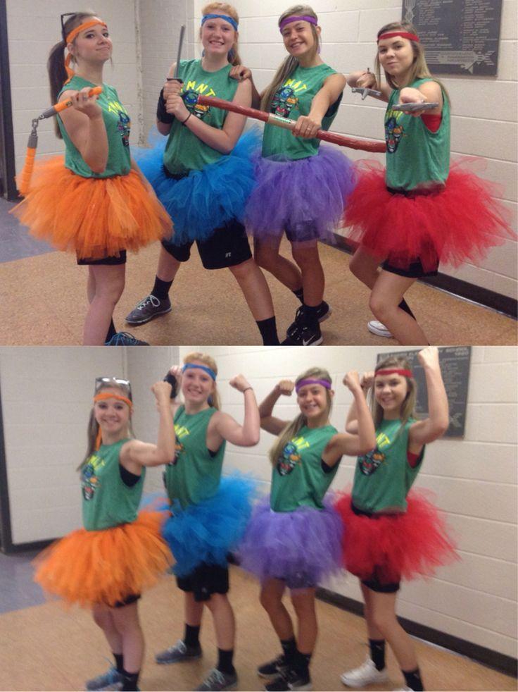 teenage mutant ninja turtle costumes for girls halloween costume super hero day at school - 4 Girls Halloween Costumes