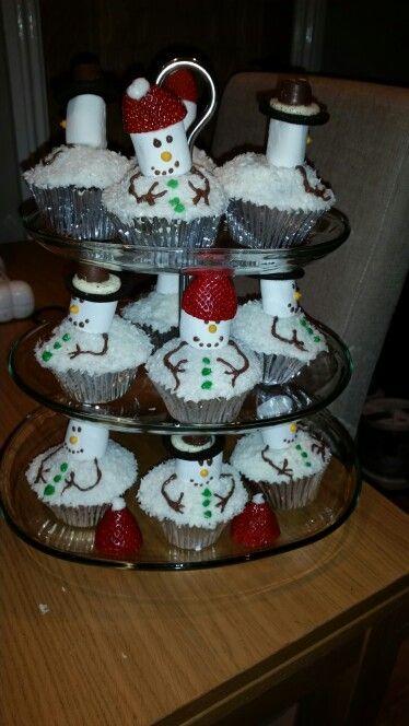 Snowmen Cupcakes by me