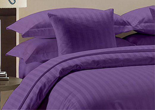 Fine Beddings 800-Thread Count 2pc Pillow Case 100% Egyptian Cotton Striped