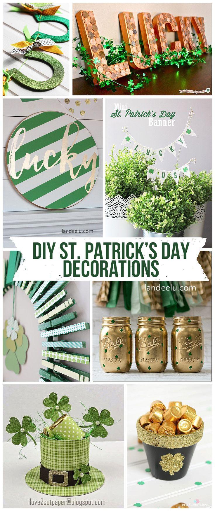 DIY St. Patrick's Day Decorations! So many awesome ideas!   landeelu.com