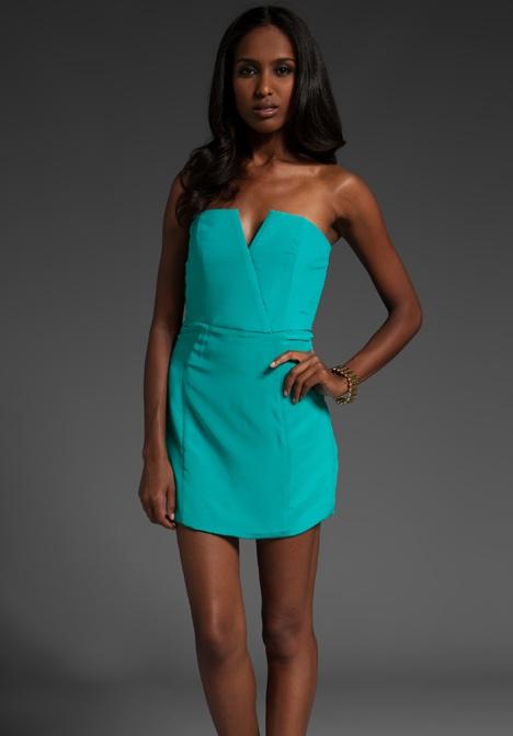 tiffany blue dress, great cut and design