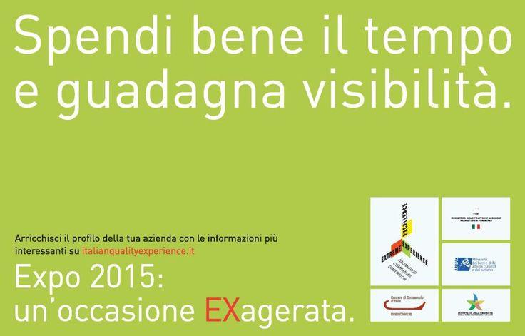 Hai un'azienda nel settore agroalimentare? Registrati su iqex.it e avrai gratis la tua vetrina online per #Expo2015