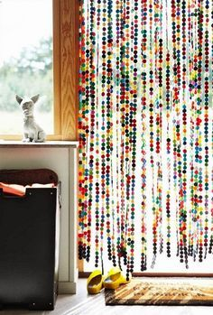 FEITA DE FELTRO blog de decoração - Arquitrecos: Cortinas de porta para fazer em casa!!